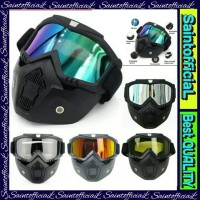 Kacamata Google Helm Masker Set Motor Trail Cross Goggles
