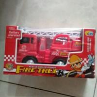 Mna105 Mainan anak mobil truk damkar pemadam kebakaran bump n go