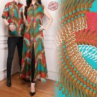 Couple Gamis Longdress ifah dan Kemeja Batik Pria