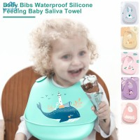 HD Baby Bibs Silicon Breastplate Baby Bib Waterproof Infant Newborn