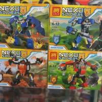 BARU lego nexo soldier karakter nexo LELE isi 97pcs bonus packing