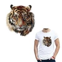 Stiker Sablon Tempel Setrika Gambar Harimau DIY Hiasan Pakaian TG