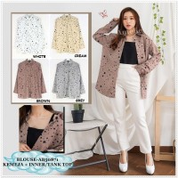 AB50871 Baju Atasan Kemeja Wanita Korea Import ( + inner )