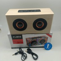 Speaker Bluetooth Klasik Fleco HS-BT183 - Speaker Kayu fleco HS BT183
