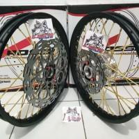 Sepaket Velg Tromol set jari Jari Satria Fu 150 Bonus Piringan