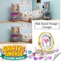 Rak stand hanger triangle rak berdiri segitiga rak gantungan pakaian