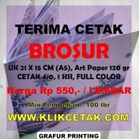Best Seller Cetak Brosur Uk A5 (15X21 Cm), 1 Sisi, Full Color, Min 100
