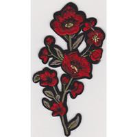 PATCH SINGLE RED FLOWER 15X18CM