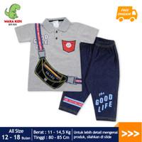 Skabe Baju Anak Laki Laki Bag Jeans 7/8 Usia 12-18 Bulan 3496 - Abu-abu