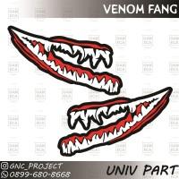 Sticker Decal Helm Venom Fang Doff for Universal Helm