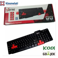 Keyboard Komputer Votre Basic Usb Kb2308/Mouse Votre usb