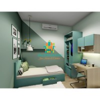Jasa Design Interior 3D Render - Kamar Set Anak Minimalis