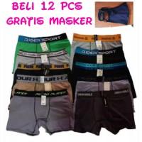 Grosir Celana Dalam Boxer Pria Size M, L dan XL