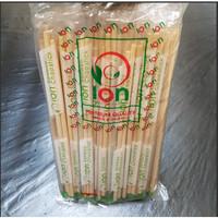 Sumpit Bambu ION bungkus Plastik + Tusuk Gigi 1 Bungkus isi 40pcs