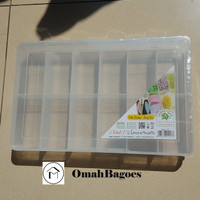 Kotak Perkakas Baut / Perhiasan 18 Sekat 1418 Green Leaf - 12 Sekat