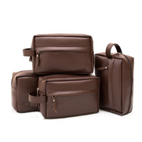 Handbag Pria - Leather Series (Dark Brown)