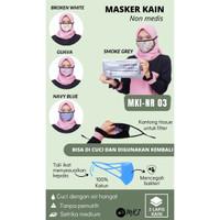 MASKER KAIN INDONESIA, MASKER KATUN RAYON, MASKER 3M, MASKER N95 - 1PACK BROKEN WH