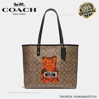 Coach Tote Bag Reversible City In Signature Vandal Gummy Original 100%