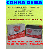 Aki Motor HONDA SUPRA X 125 Gel GARANSI 12 bulan JAP JTZ5S or gtz5s