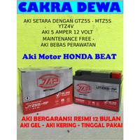 Aki Motor HONDA BEAT Gel GARANSI 12 bulan JAP JTZ5S or GTZ5S YTZ4V