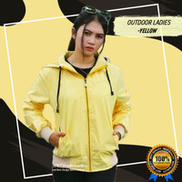 Jaket Outdoor Parasut Cewe Adem Ringan Yellow TGJ41
