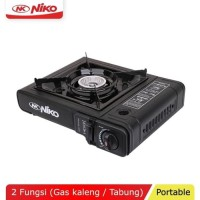 NIKO NK-268 Kompor Gas Portable 2 in 1 - Two Function Portable Stove