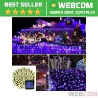 Lampu Hias Dekorasi Taman Solar Panel 100 LED 12 Meter Warm White Lamp