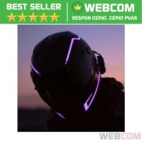 Lampu Helm LED Light Strip Night Luminous Waterproof Light Modes
