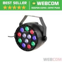 Proyektor LED Lampu Disco Stage Konser RGBW DMX 12 LED Strobe
