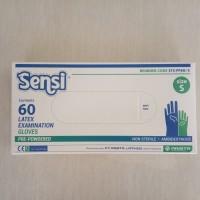Sensi Hand Gloves Latex (60) Sarung Tangan Latex Sensi Small Size