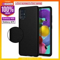 Case Samsung Galaxy A51 / A71 Spigen Liquid Air Softcase Black Casing
