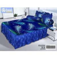 Sprei Rumbai Hawai ( California ) uk 180x200 PEACOCK BLUE