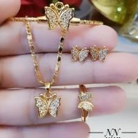 xuping set perhiasan anak lapis emas 24k 16t20
