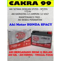Aki Motor HONDA SPACY Gel Bergaransi resmi 12 bulan JAP JTZ5S or YTZ4V