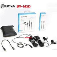 Mic Boya BY M2 M2D Clip on khusus iOS microphone
