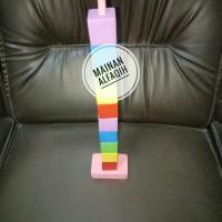 Mainan Edukasi Susun Menara Kubus Warna Warni