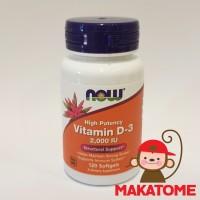 Now Foods Vitamin D-3 High Potency 2,000 IU 120 Softgels 2000 vit D 3