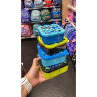smiggle 4in1 container kotak makan 1 set bola