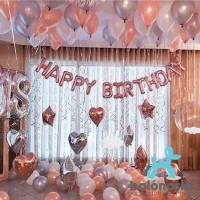 Balon Foil Set Dekorasi Ulang Tahun Rosegold