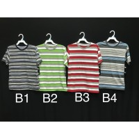 Kaus/Kaos Oblong Adem/ Tshirt Salur Anak (B/A)