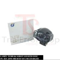 Lampu Tembak Sorot LED RTD E03C 9V-85V 20W Ori RTD No USB Charger