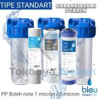 """Paket Filter Air penguin FB 10"""" STD PP + CTO + GAC"""
