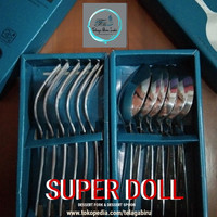 SUPER DOLL SENDOK MAKAN ORI STAINLESS STEAL