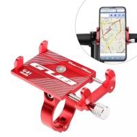 E-Scooter Holder Smartphone di handlebar bikemerk GUB Red