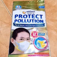 MASKER 3D UNICHARM Made In Japan ISI 2 PCS bukan sensi atau nexcare