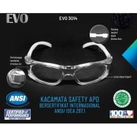 Kacamata Safety APD EVO Anti Kuman Virus Aman HALAL Kualitas Bagus