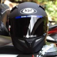 Helm KYT K2rider matt black doff solid fullface K2 rider paket ganteng
