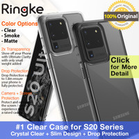Case Samsung Galaxy S20 Ultra / S20 Plus / S20 - Ringke Fusion Casing - S20 Ultra, Smoke