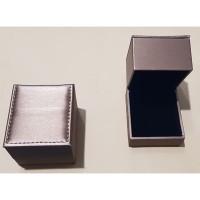 Kotak Cincin Tinggi Kulit - Gold