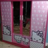 Lemari Pakaian 4 Pintu Sliding ( Karakter Hello Kitty ) Satriabudi802